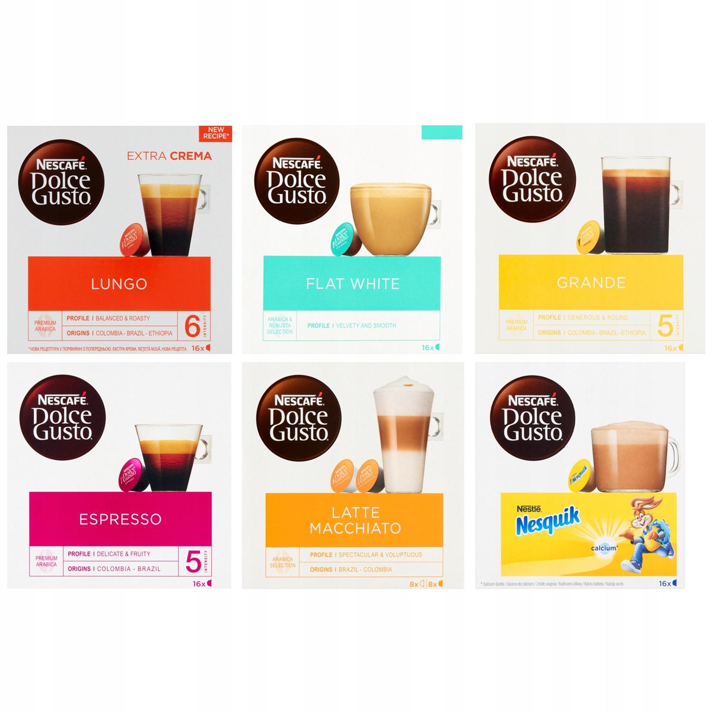 Kawa Nescafe Dolce Gusto ZESTAW MIX 96 kapsułek