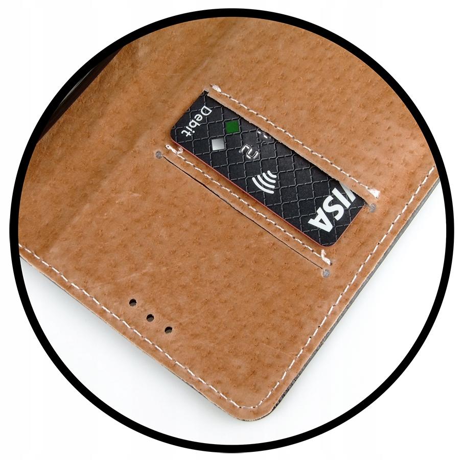 Etui do iPhone 12 Mini Skórzane Portfel + Szkło 9H Producent INNY