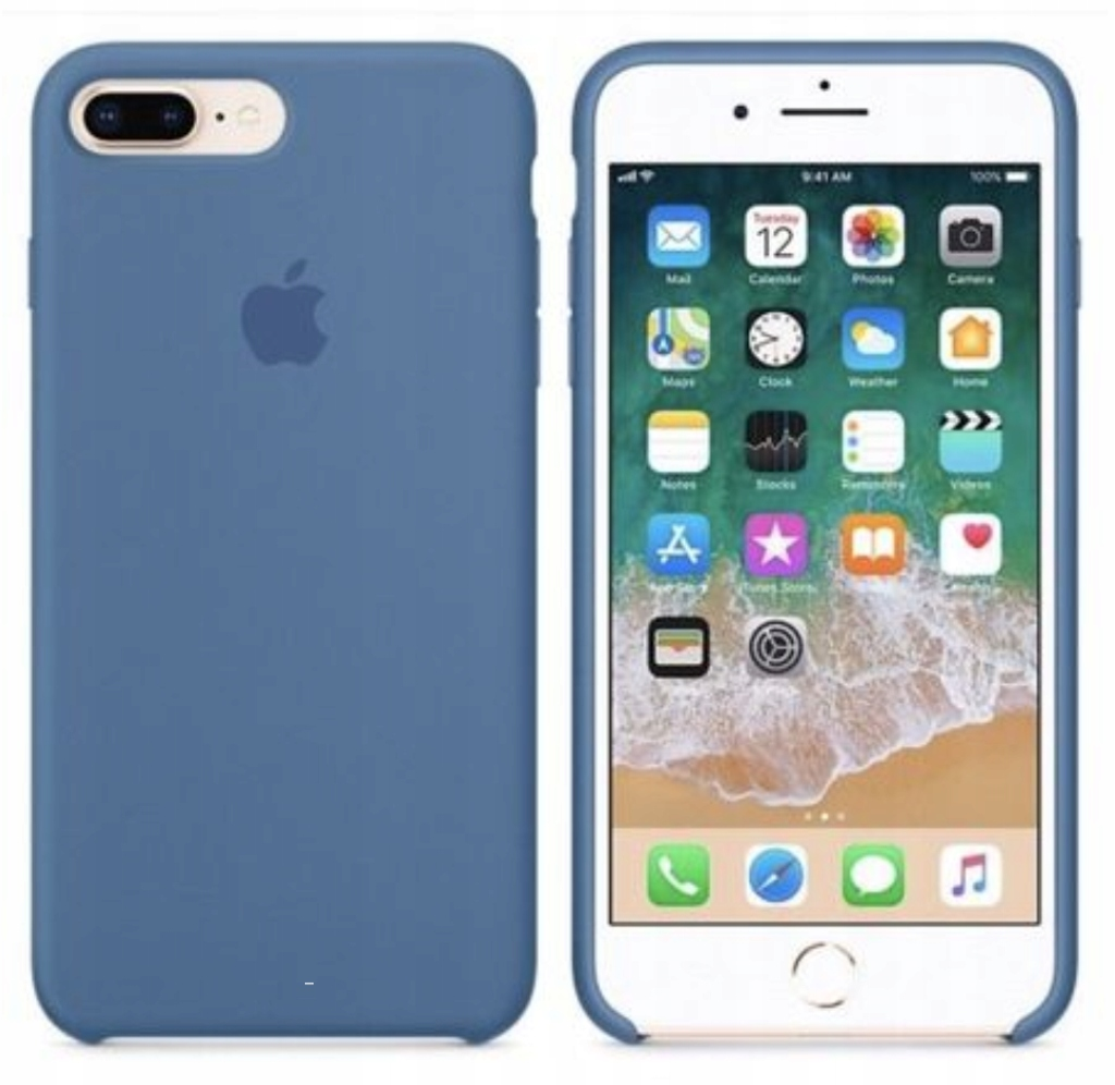Etui silikonowe iPhone 8 Plus/7 Plus (Dnim blue)