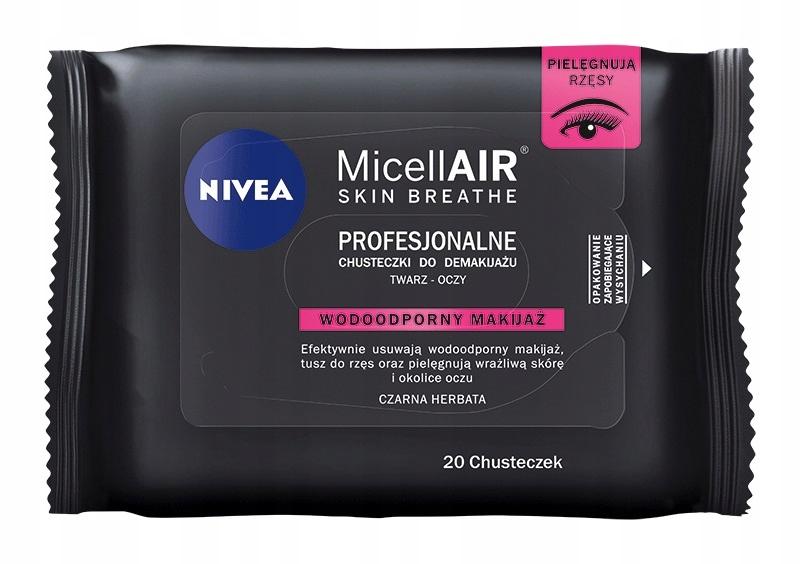 Профессиональные салфетки Nivea для снятия макияжа водой