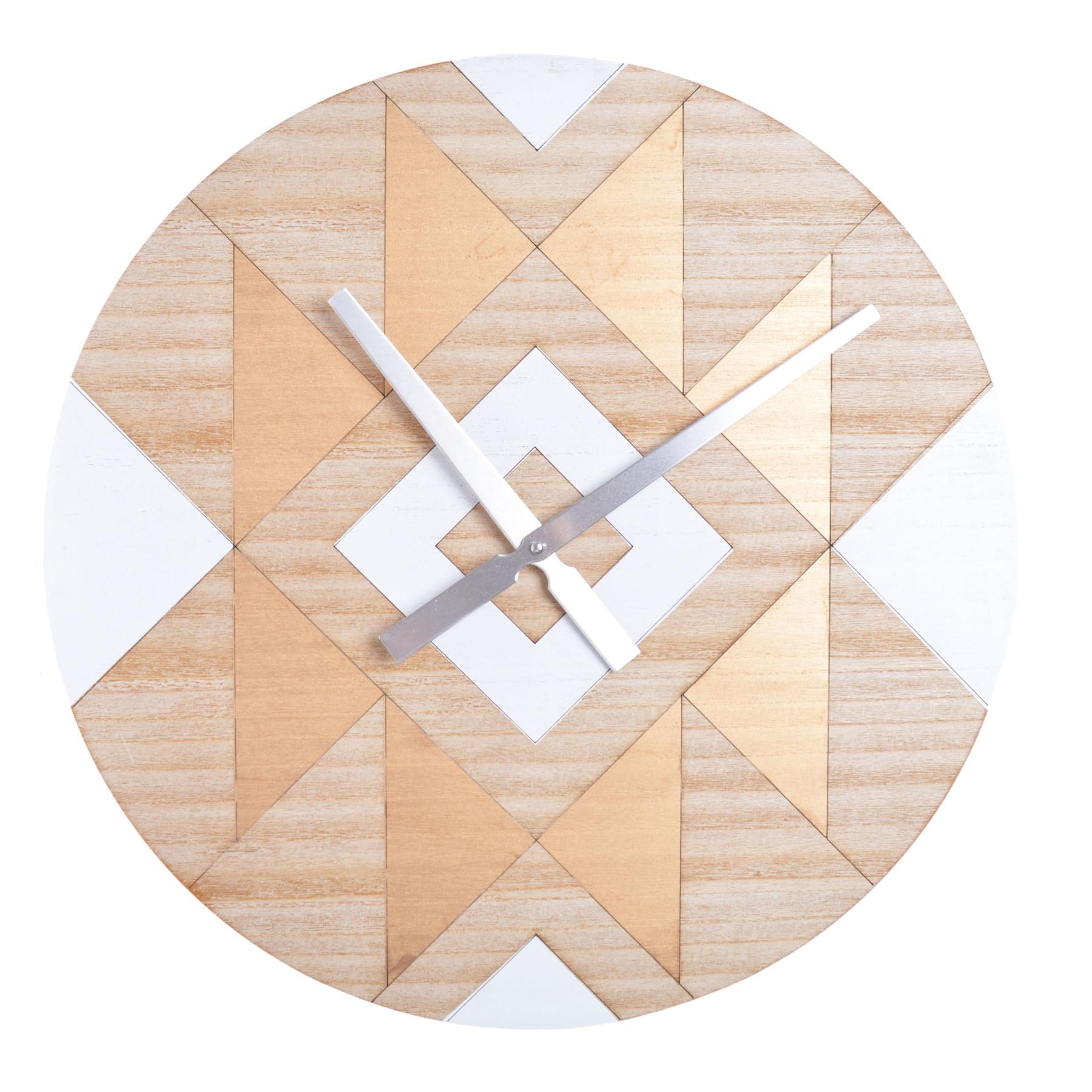 Drevené retro nástenné hodiny Dreme Ø50 cm
