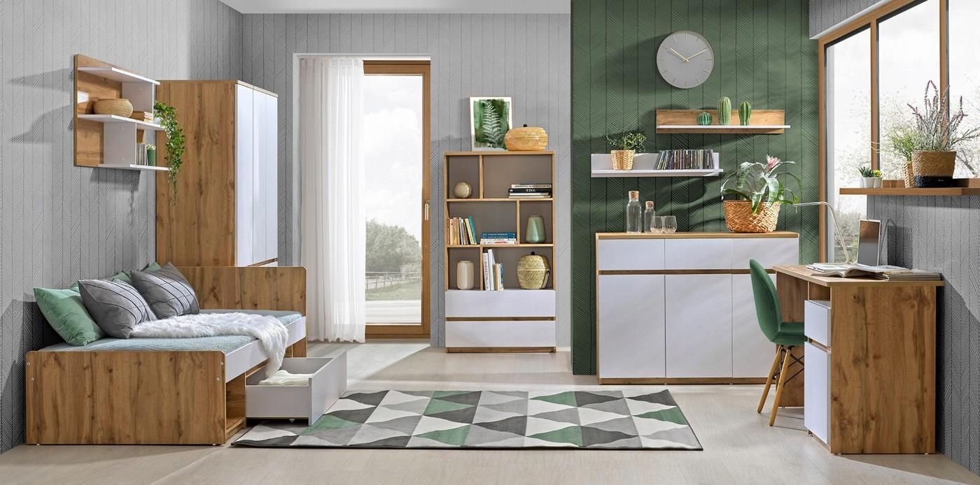 ARCA комплект молодежной мебели # 5 дуб вотан / белый