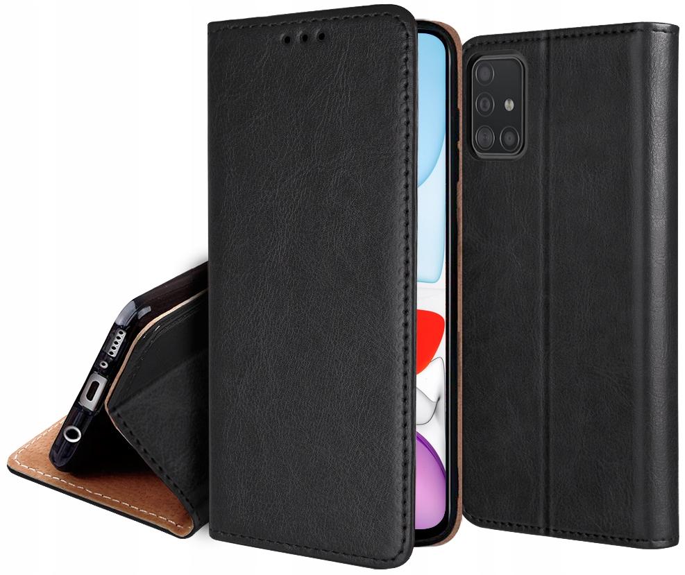 ETUI SKÓRZANE + SZKŁO 9H do Samsung Galaxy A51 5G