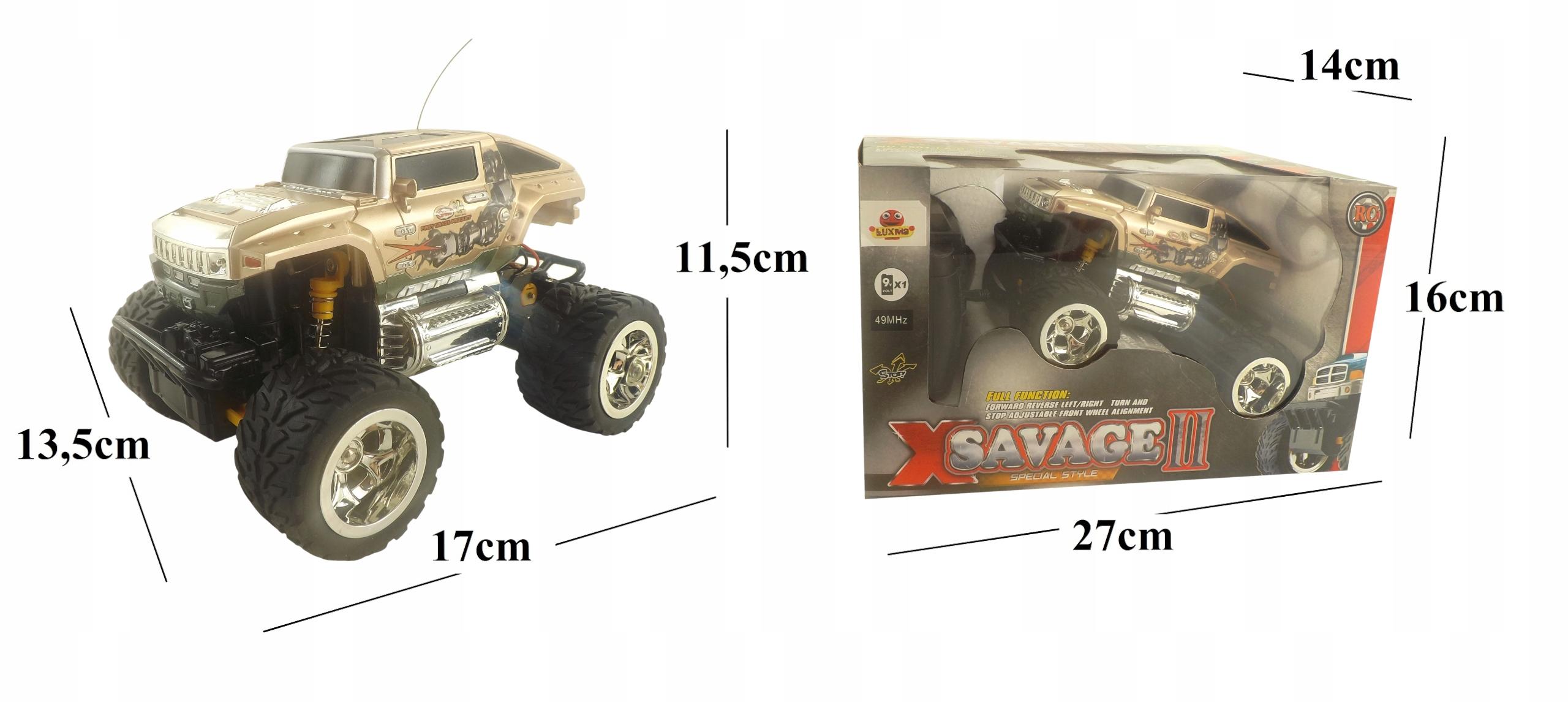 SAMOCHÓD ZDALNIE STEROWANY X-SAVAGEII PILOT 5501s Wysokość produktu 11.5 cm