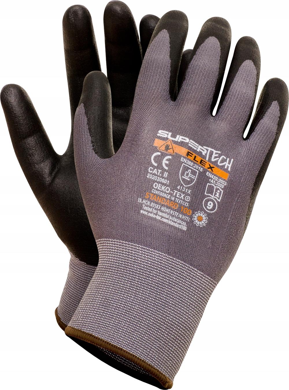 Рабочие перчатки SUPER TECH FLEX как MaxiFlex