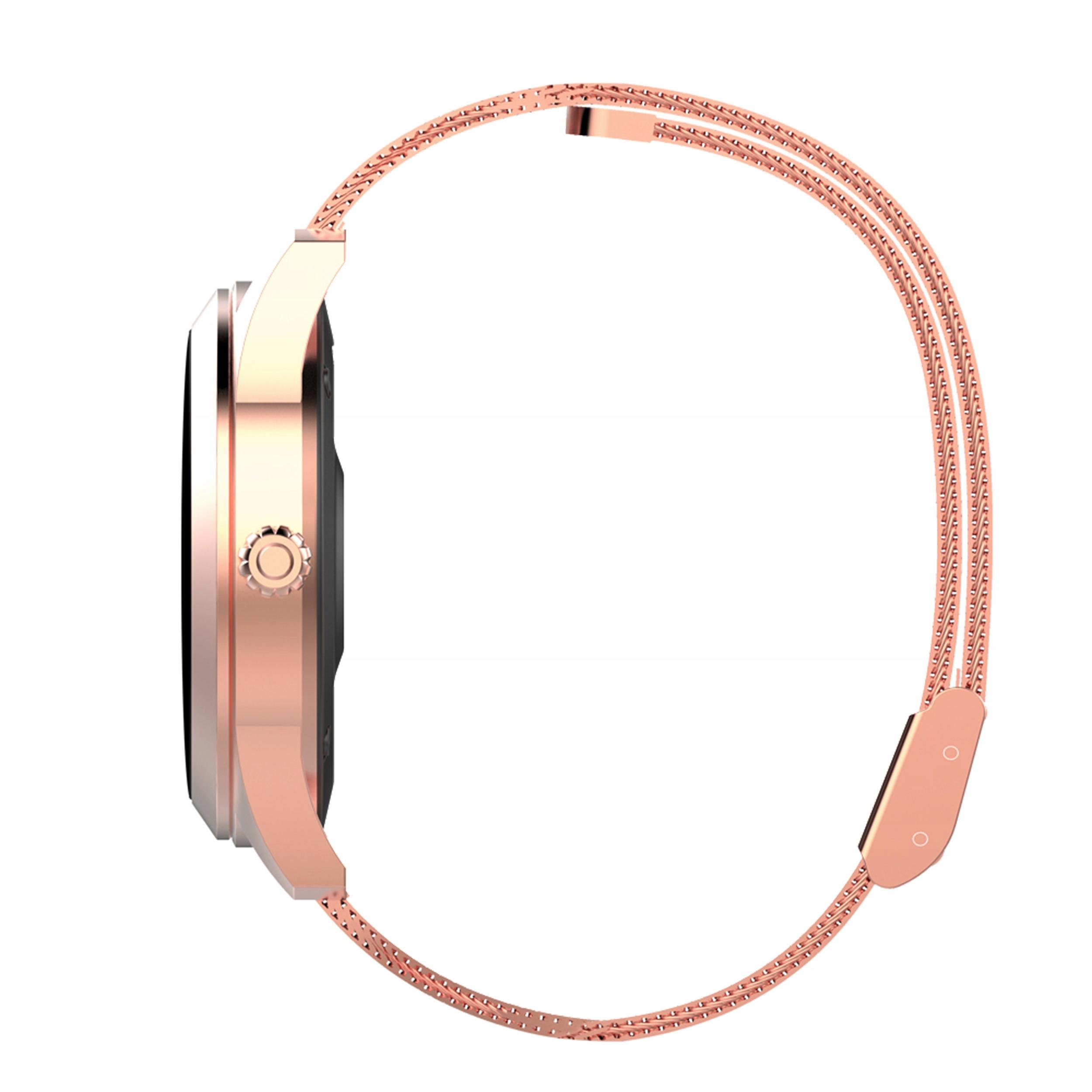 KW10 OLED DESIGN kvinners smartklokke trinn pulssyklus Gullfarge