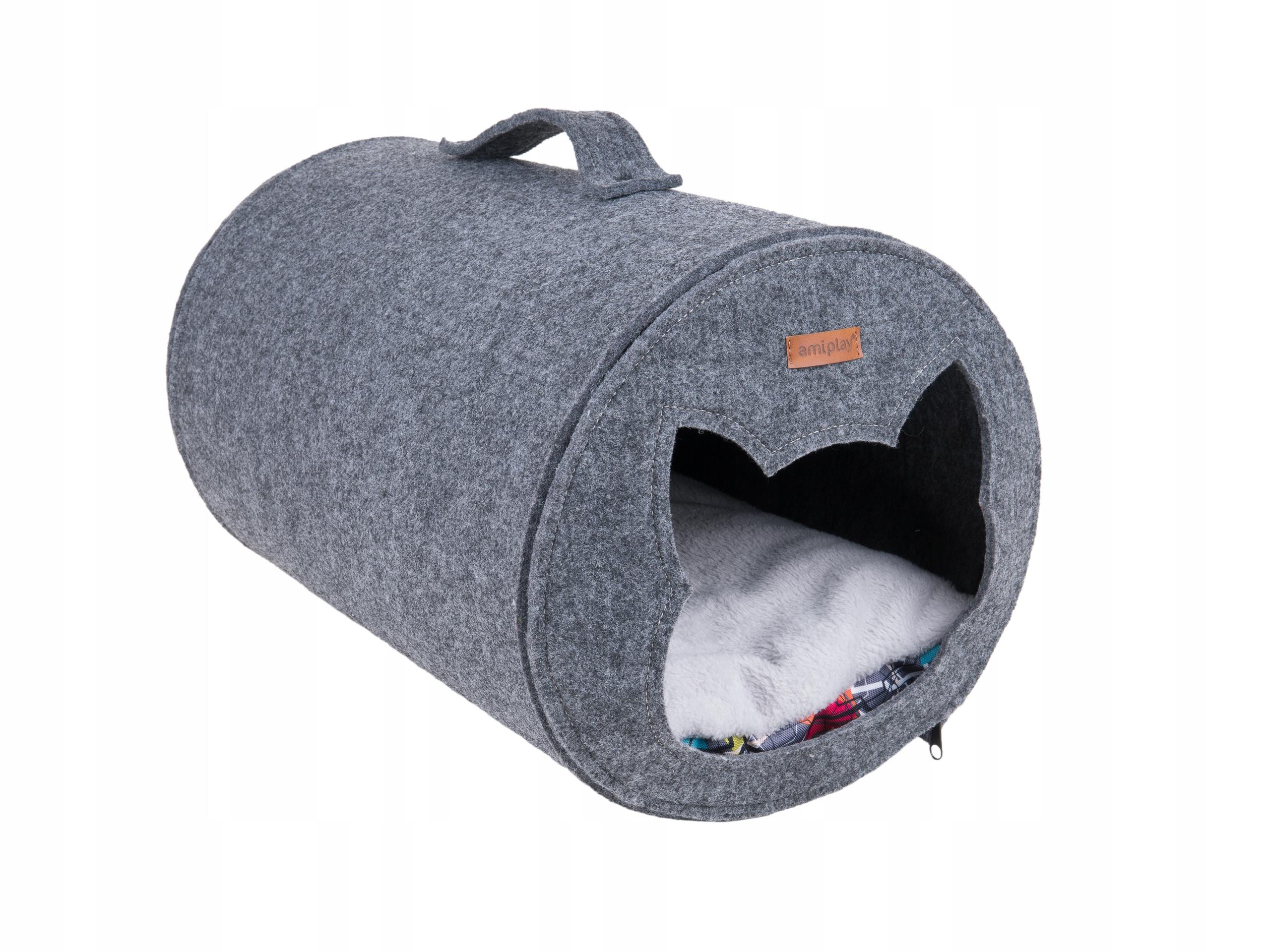 amiplay Hygge Domek tunel dla kota 2in1 Filc