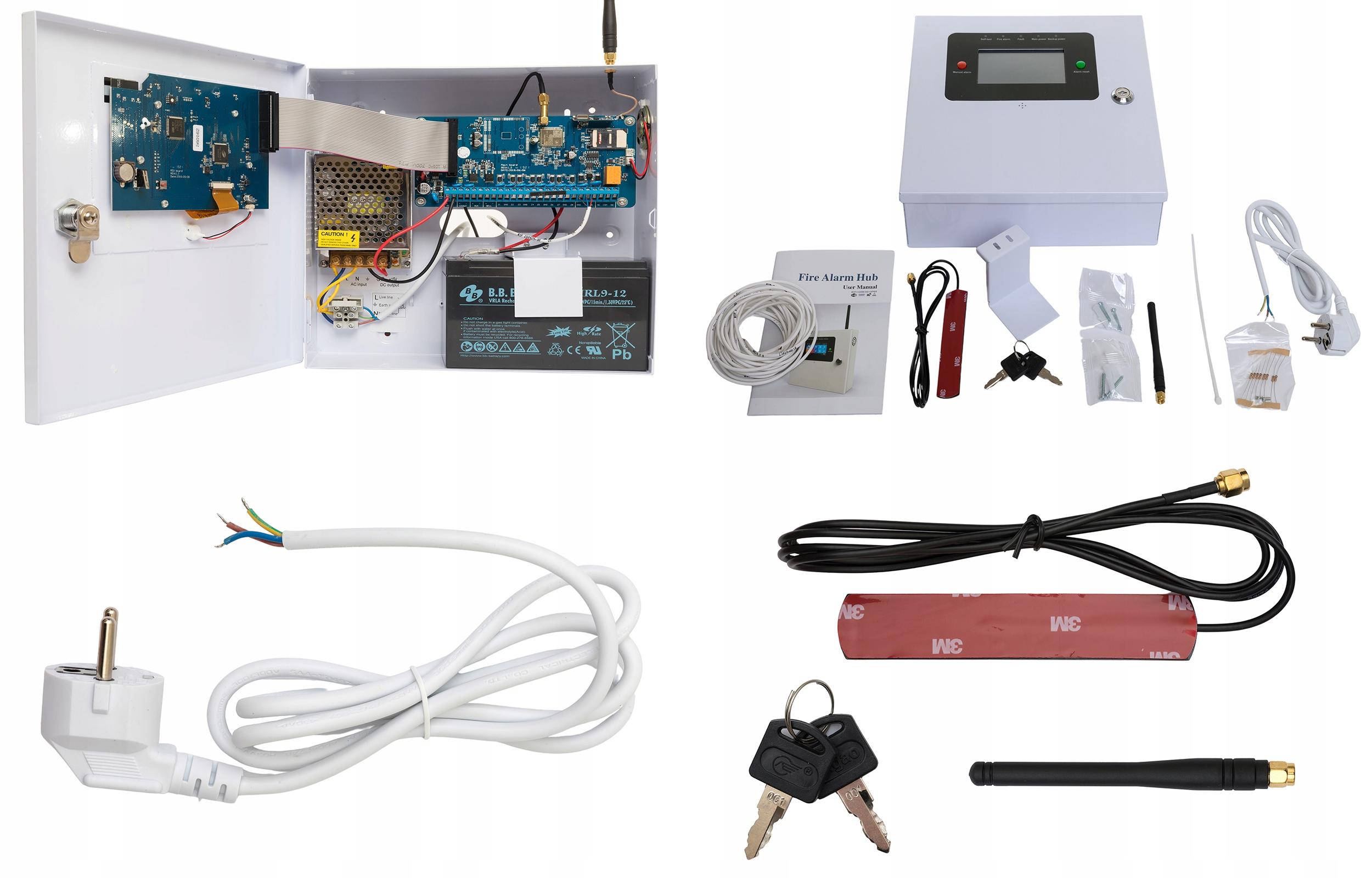 PRZEWODOWY ALARM LCD GSM APP SYRENY WIFI POLSKI Waga produktu z opakowaniem jednostkowym 1 kg