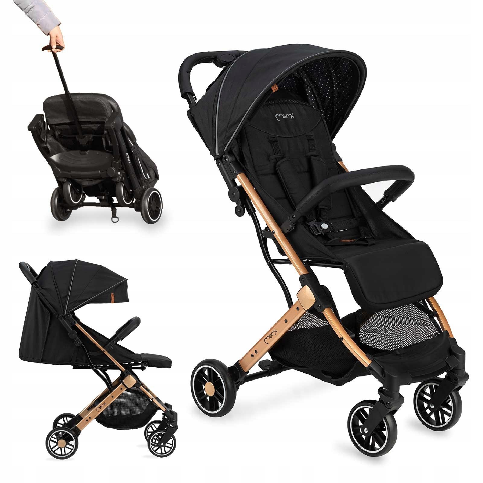 MoMi ESTELLE wózek spacerowy czarny