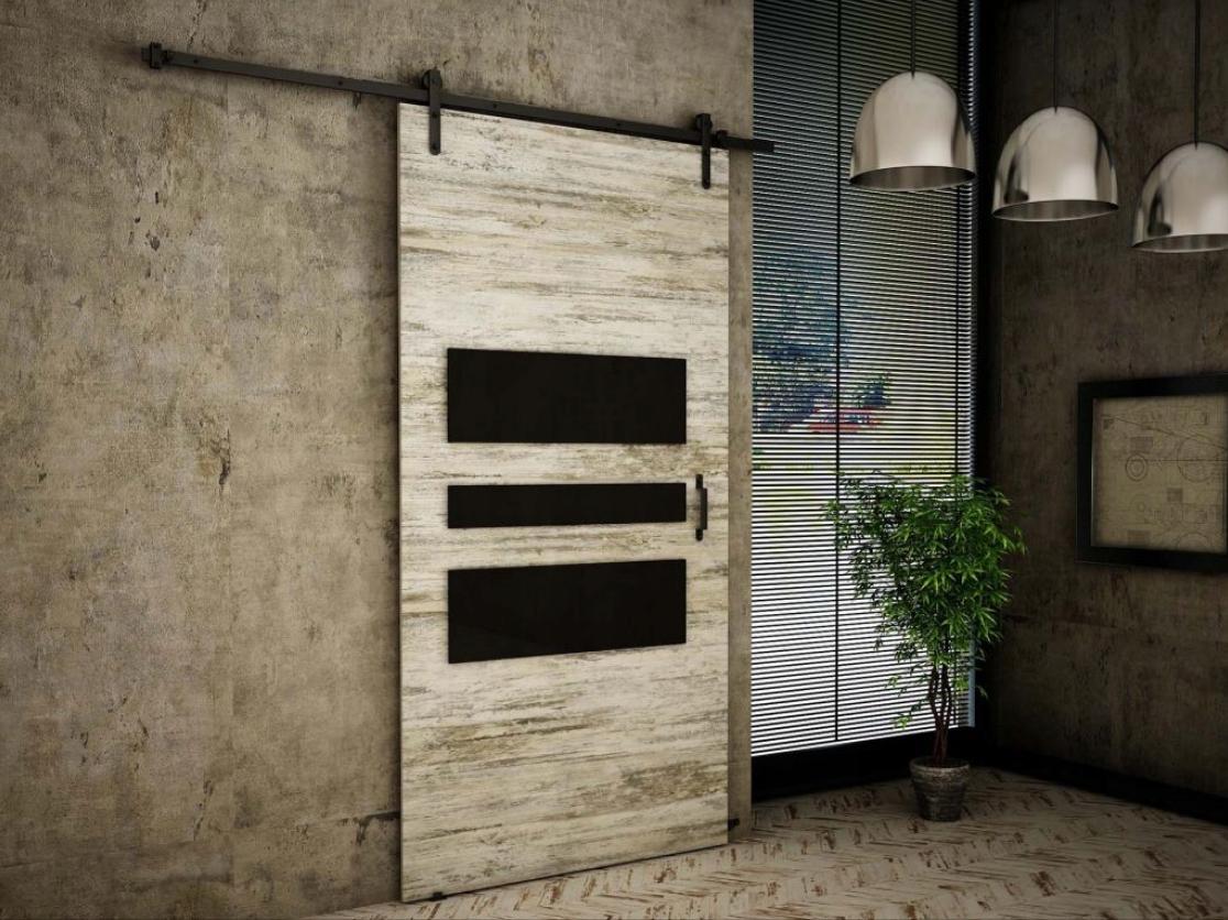 Nástenné posuvné dvere Bielená borovica RT01 90 cm