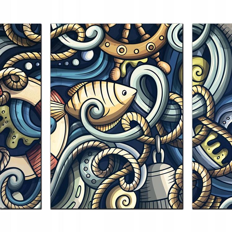 Triptych pre kotvu Retro Marine Design Łódź