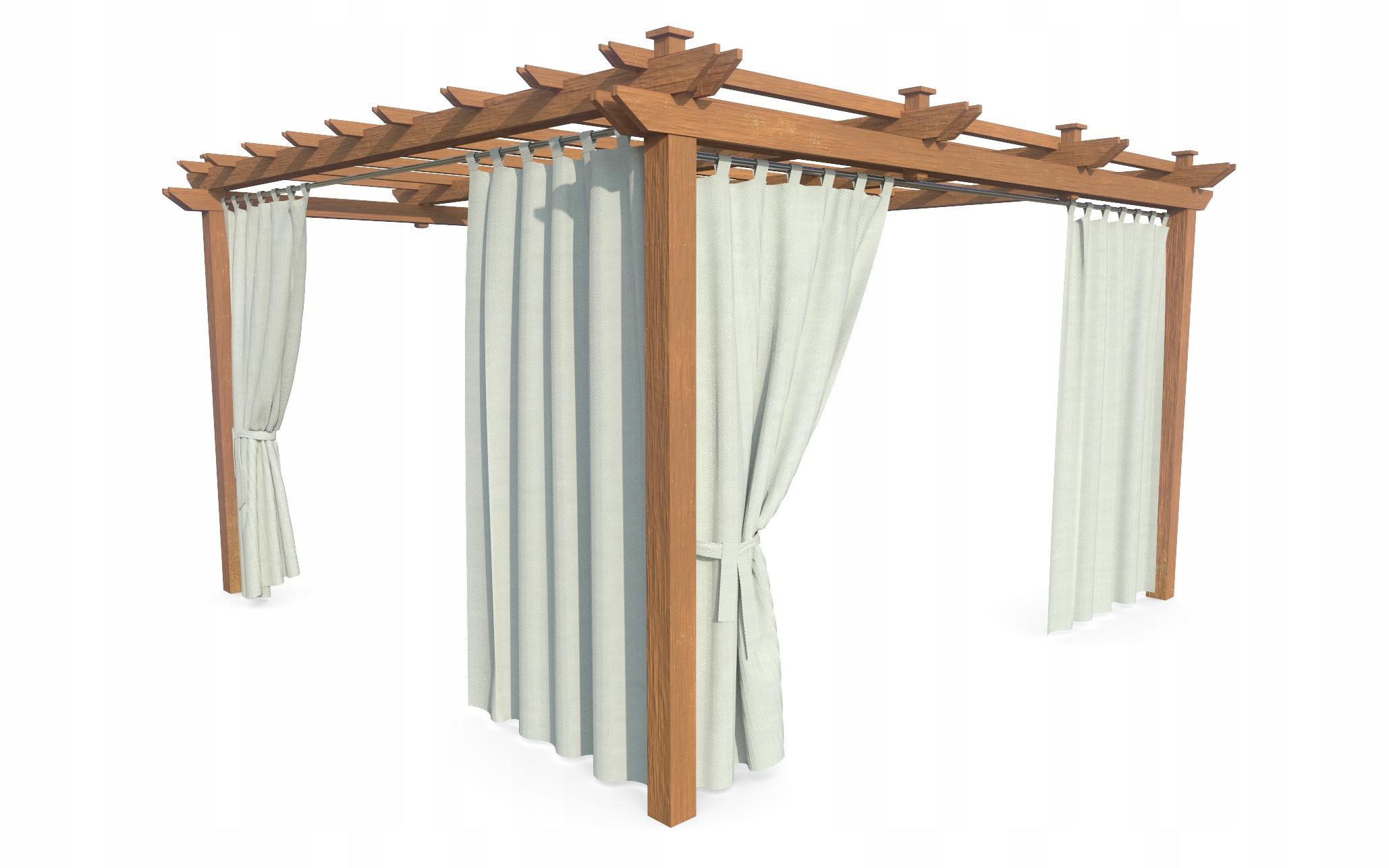 Zasłony ogrodowe tarasowe balkonowe PERGOLA155x200