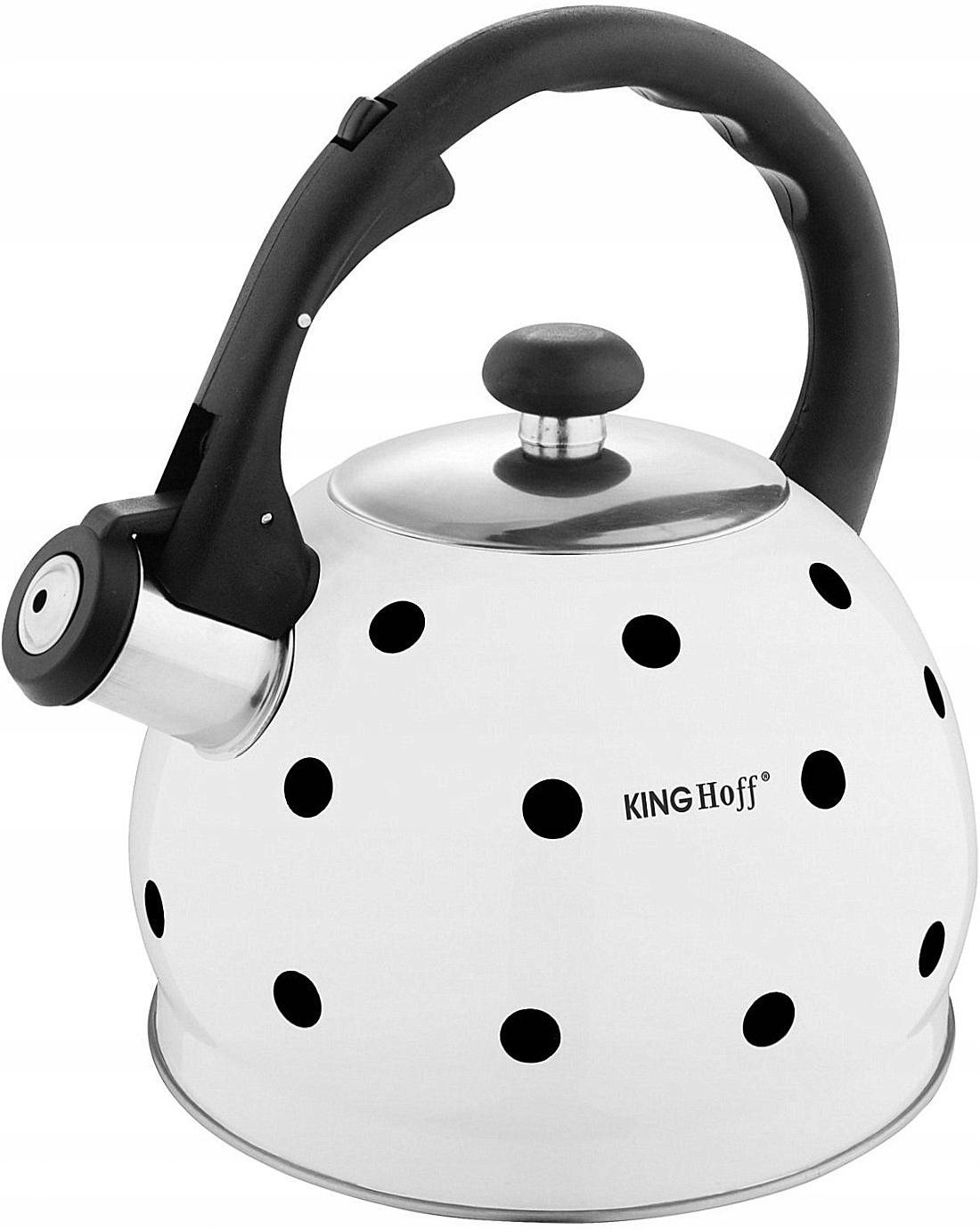 Чайник стальной со свистком 2L Induction WHITE GAS