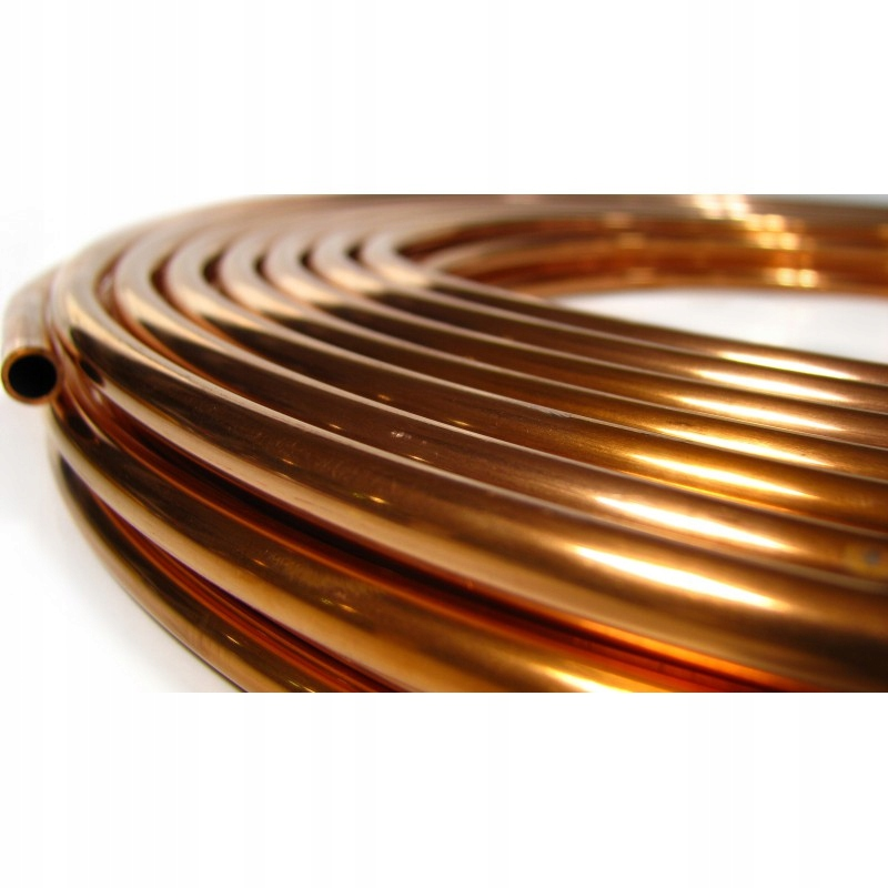 трубка труба медная fi 6 6mm провода топливные