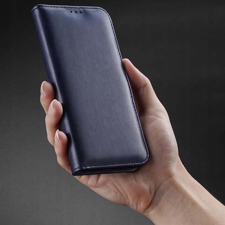 Etui Kado do iPhone 12 / 12 Pro niebieski + szkło Materiał skóra ekologiczna