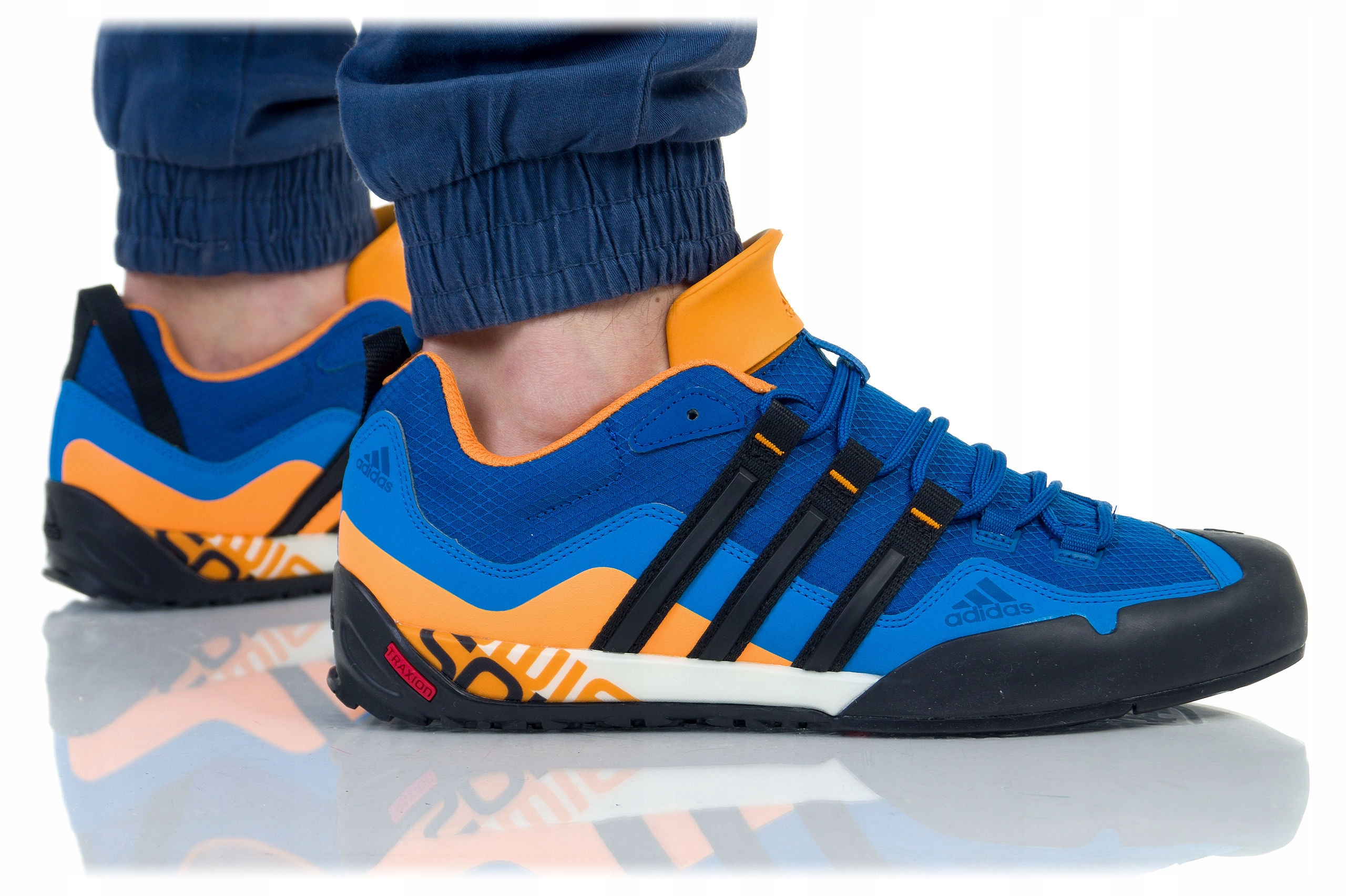 Buty Adidas TERREX SWIFT SOLO AQ5296 niebiesko pomarańczowe