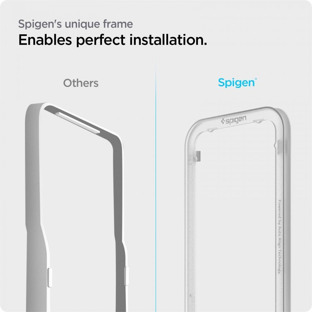 2x Szkło Spigen Alm Glass Fc do iPhone 13 Pro Max Liczba sztuk w zestawie 2 szt.