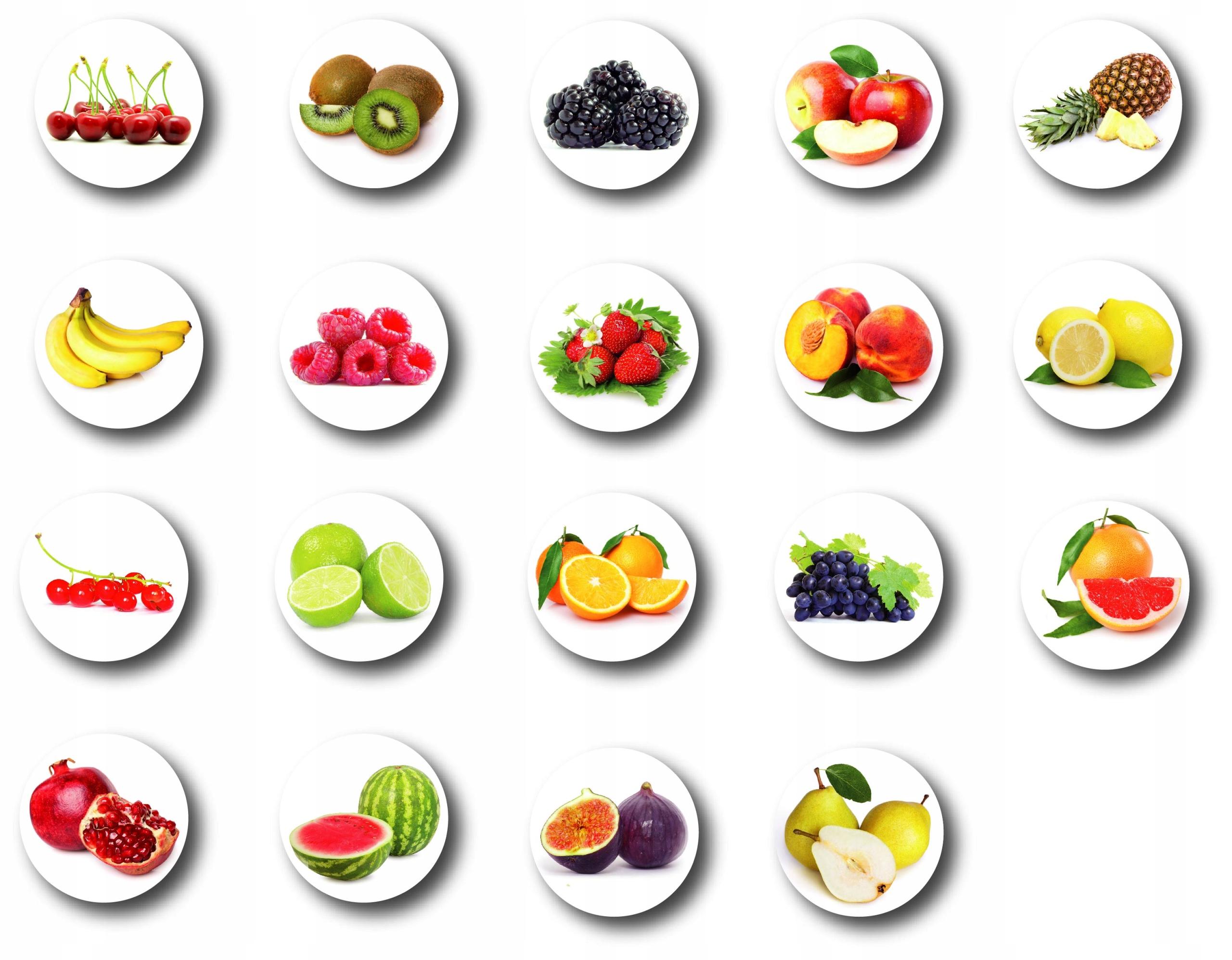 Chladnička magnety ovocie magnet ovocie hit 19 ks