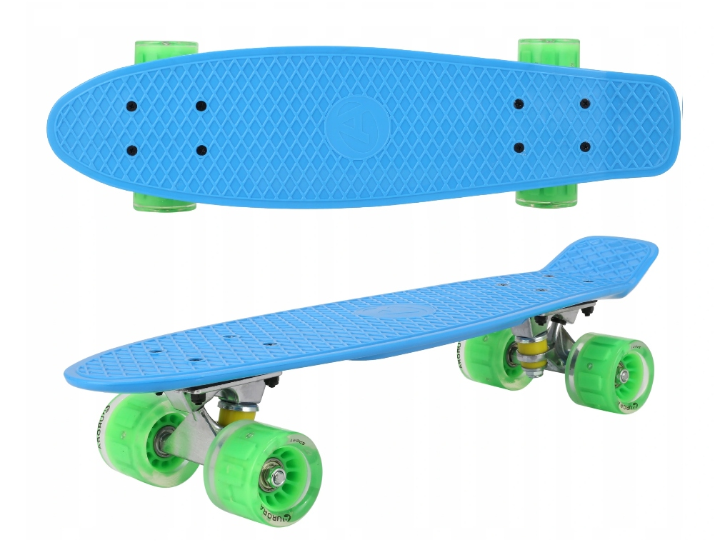 Fiszk Typ Skateboard Riadiace koleso LED ABEC7