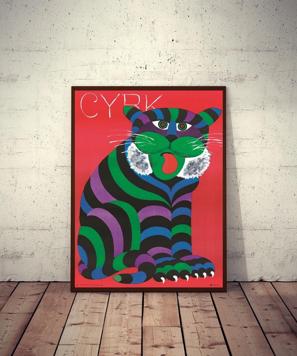 CYRK plakat cyrkowy Tygrys - H. Hilscher NOWOŚĆ!