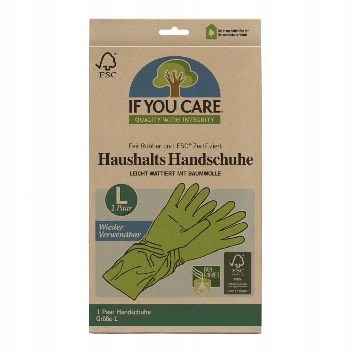 Wielorazowe rękawiczki lateksowe EKOLOGICZNE L