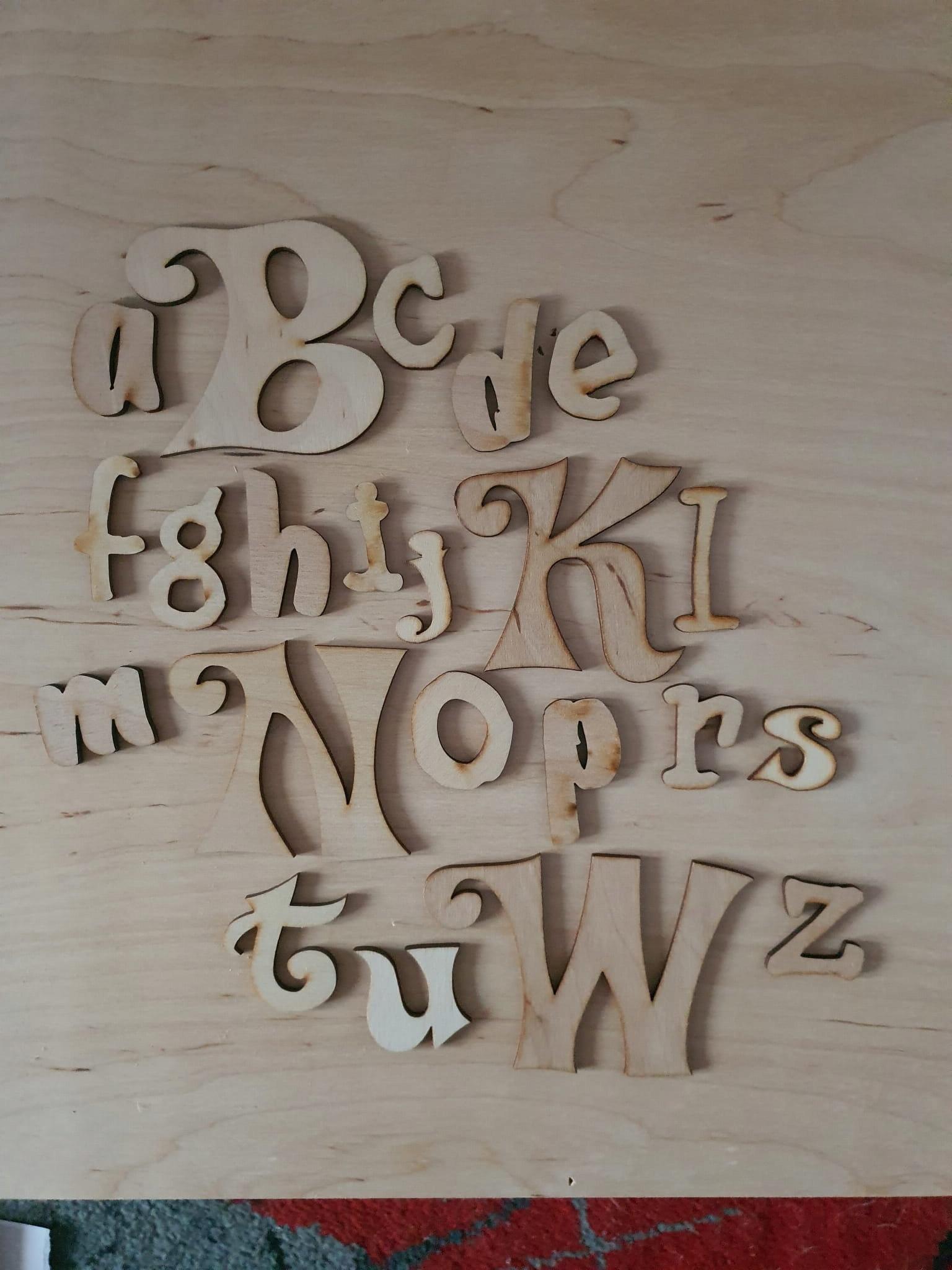 Деревянный алфавит no 8, буквы, деревянные наклейки