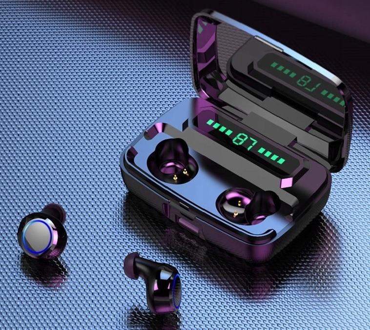 SŁUCHAWKI Bezprzewodowe BT5 WODOODPORNE PowerBank Model Słuchawki bluetooth M11 BT 5.0