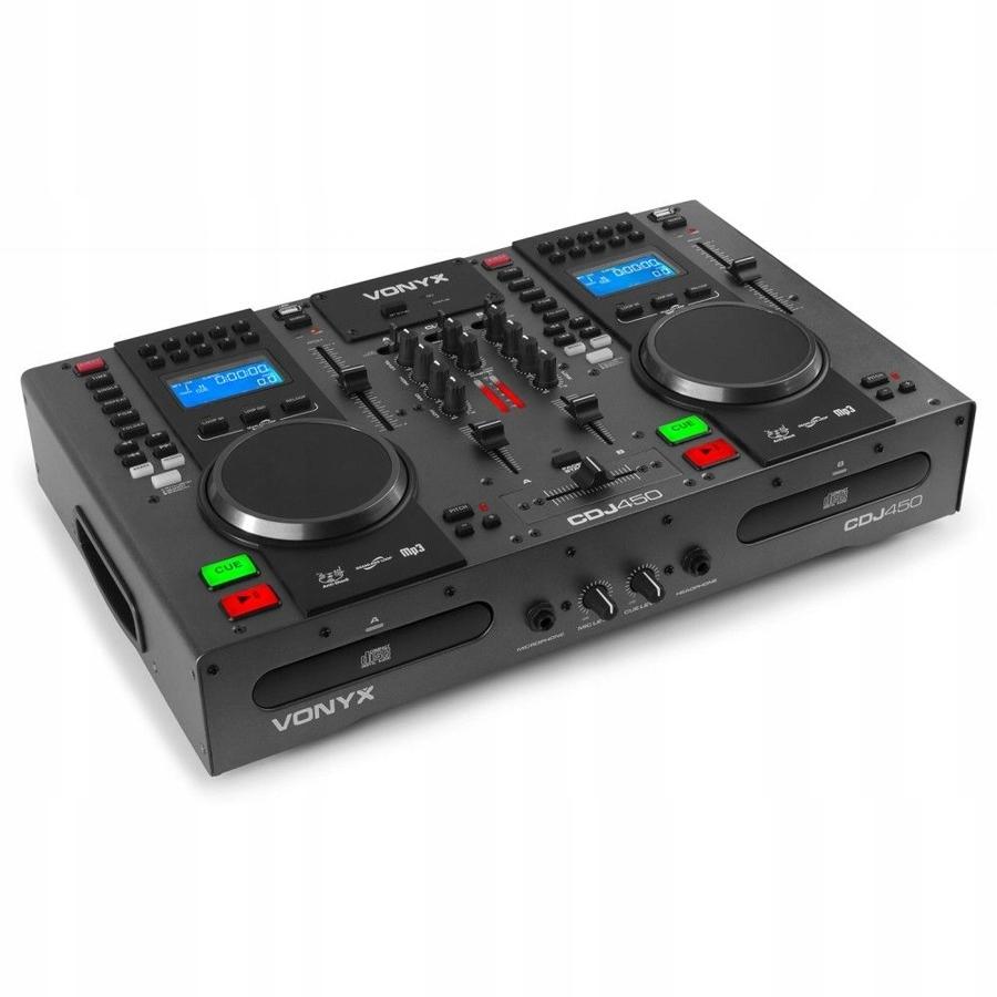 Item Double CD-MP3-USB-BT Vonyx CDJ450