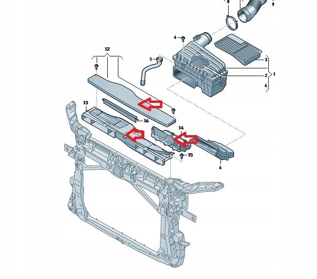 вход воздуха фильтр руль skoda vw audi seat
