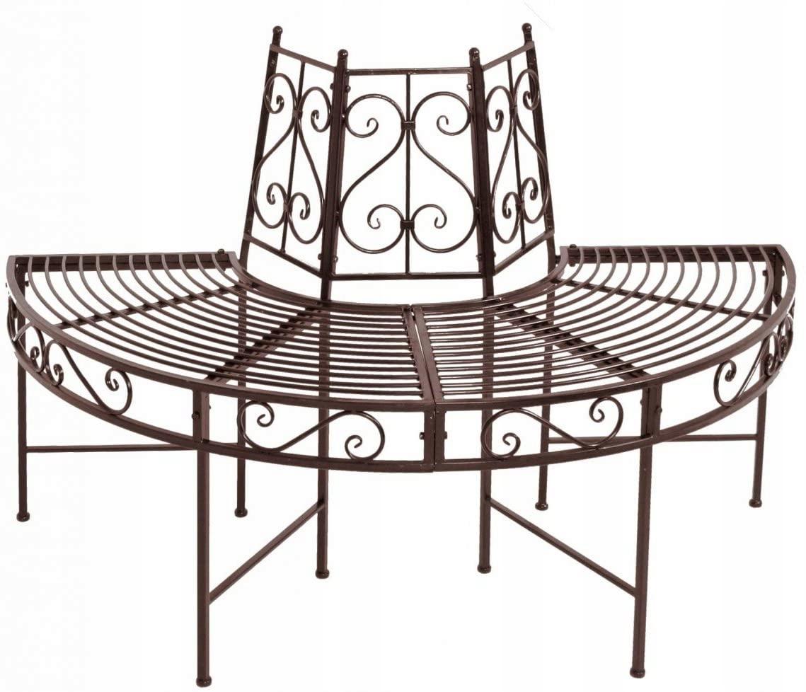 NEMČINA NARVI polkruhová kovová záhradná lavica
