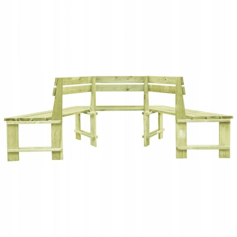 Záhradná lavica, 240 cm, impregnovaná borovicovým drevom. Dĺžka (dlhšia strana) 240 cm