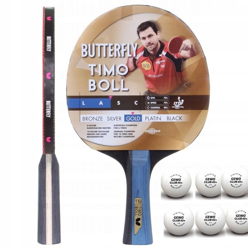 Ракетка Butterfly Timo Boll GOLD +6 мячей **