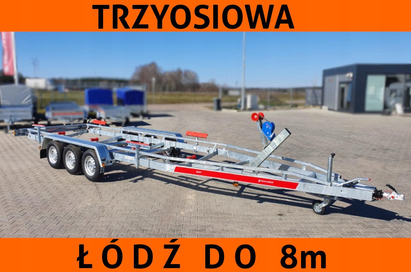 Temared Przyczepa Podlodziowa Pod Lodz 8m 3 Osie 7870791923 Allegro Pl