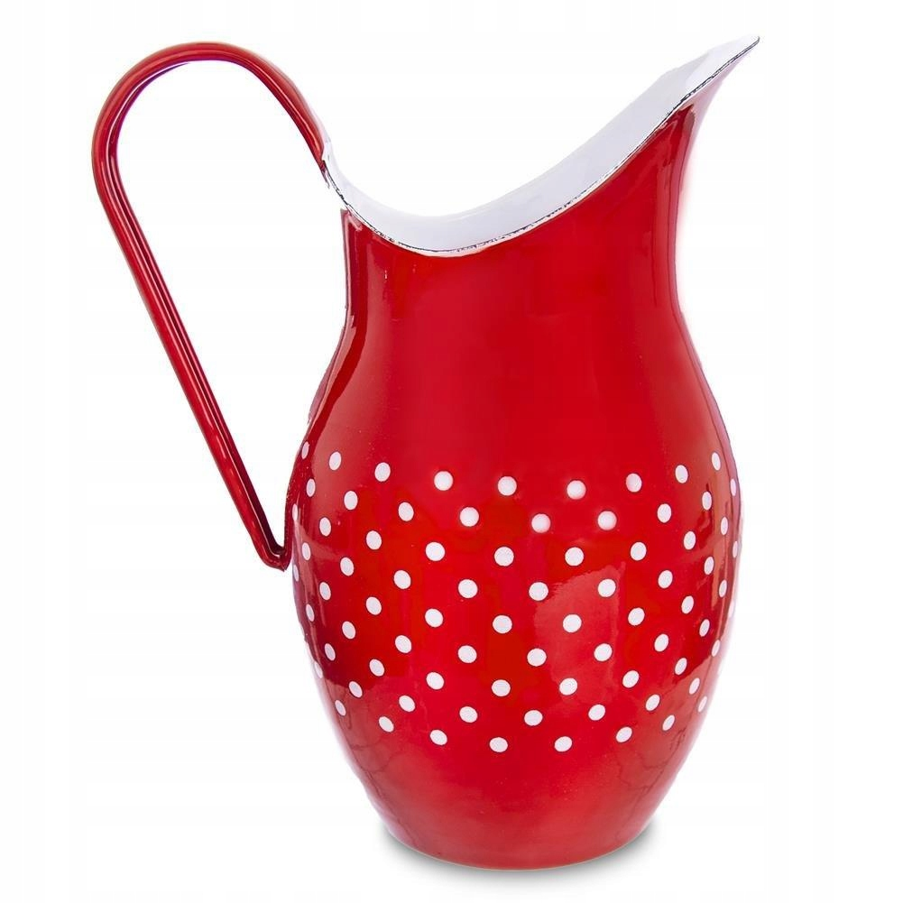Retro smaltovaný džbán RED DOTTED 2,5L