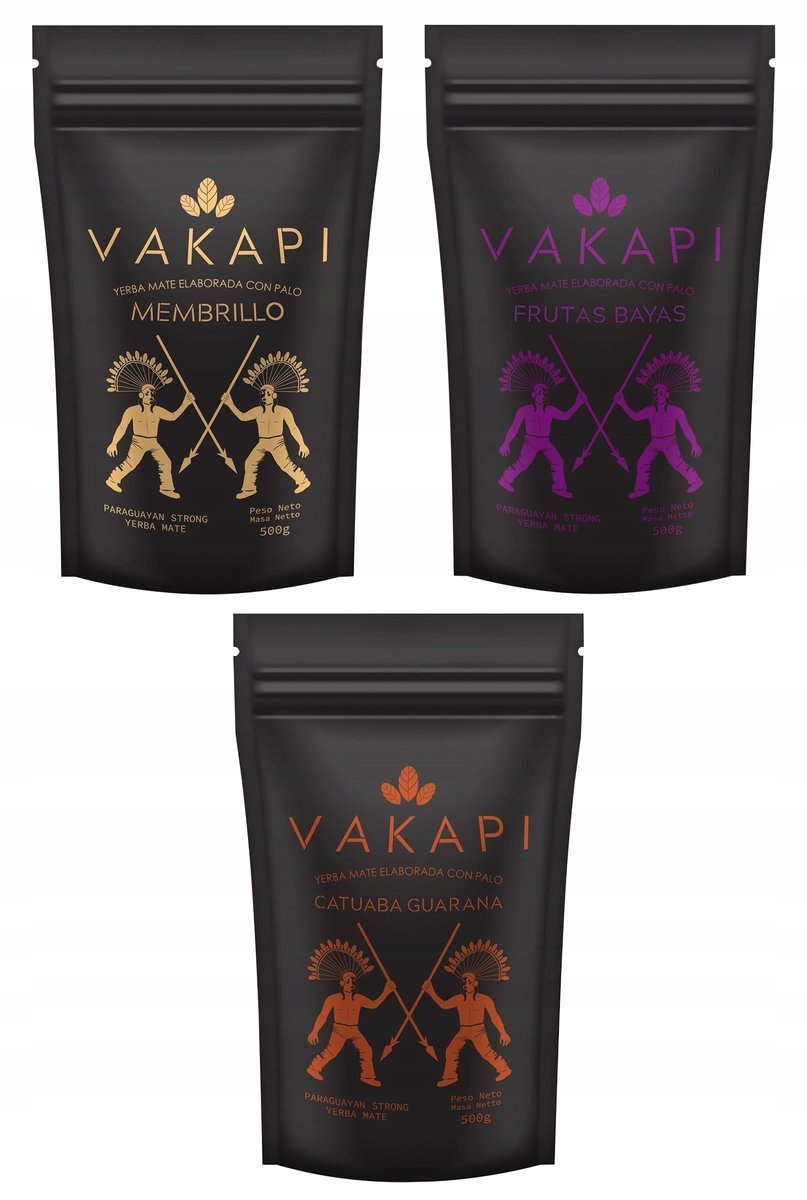Yerba Mate Vakapi Fruit set 3x500g 1.5kg