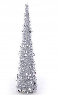 Umelý vianočný stromček Strieborný vianočný stromček 120 cm