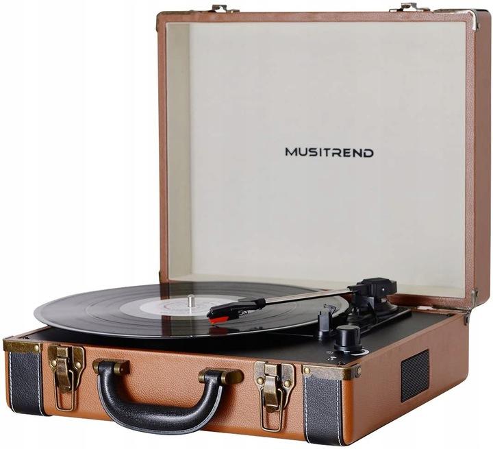 Gramofón retro kufor MUSITREND MT316