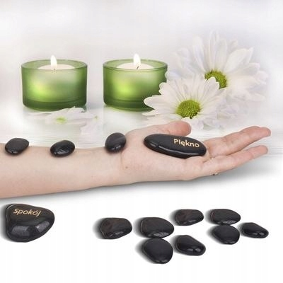ГОРЯЧИЕ БАЗАЛЬТОВЫЕ КАМНИ ДЛЯ МАССАЖА 12шт СПА Код товара набор базальтовых камней в подарок ей