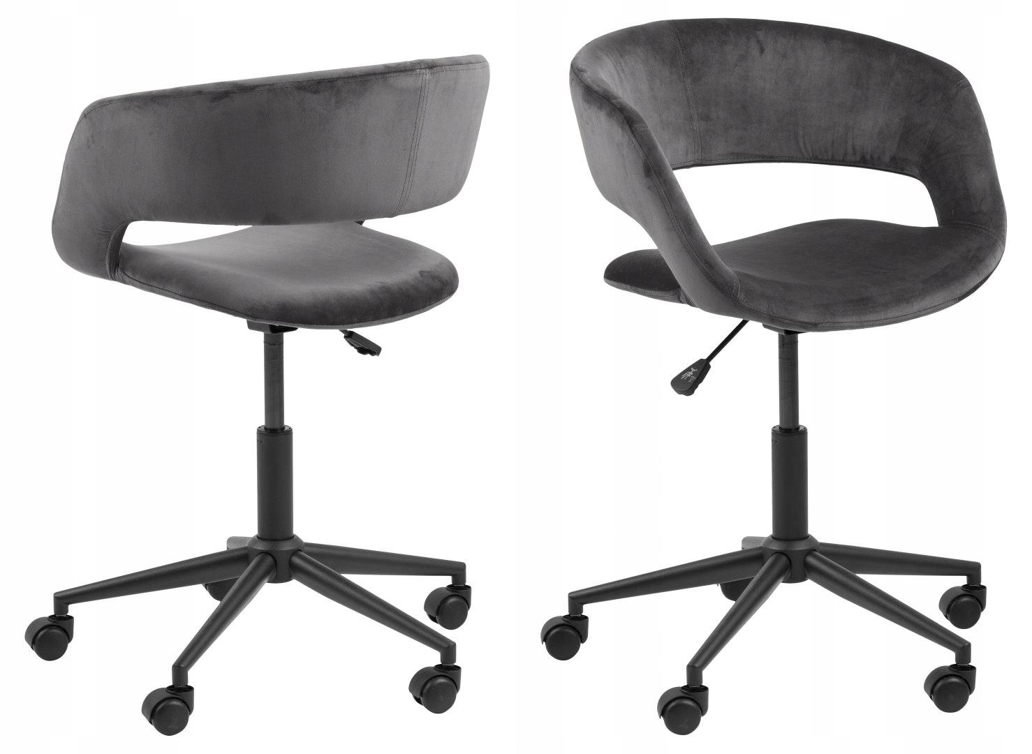 MILOSŤ, kancelárske stoličky, tmavo šedá, čierna