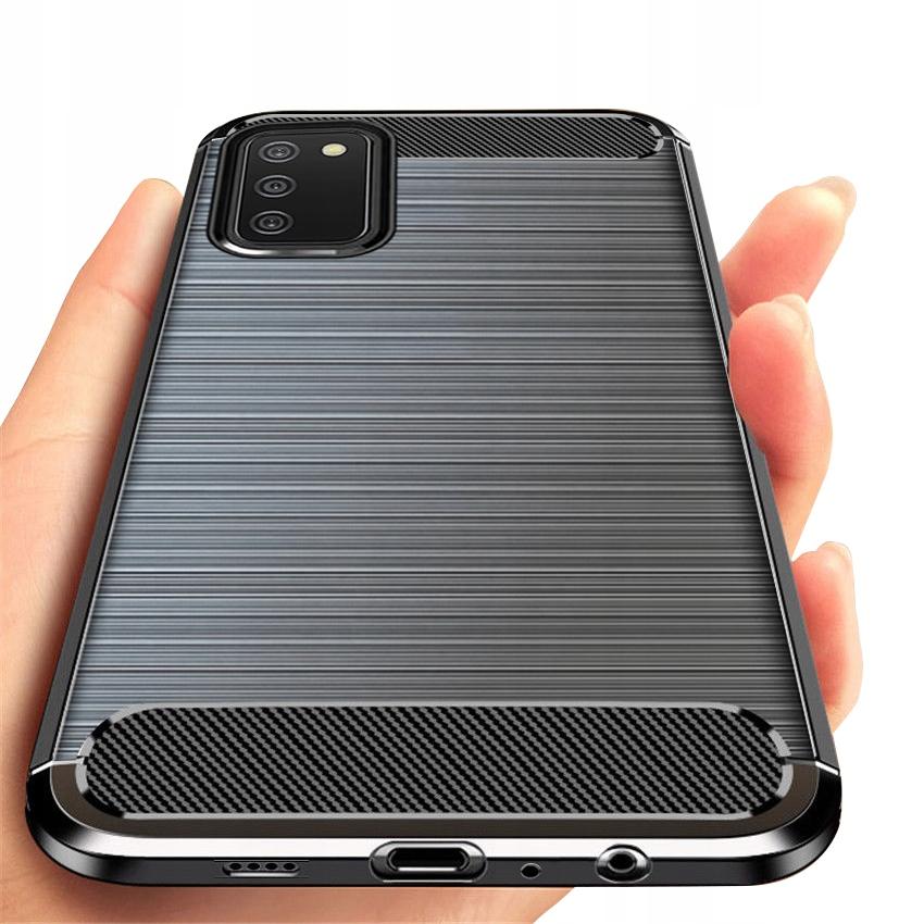 ETUI do Samsung Galaxy A02S PANCERNE KARBON +SZKŁO