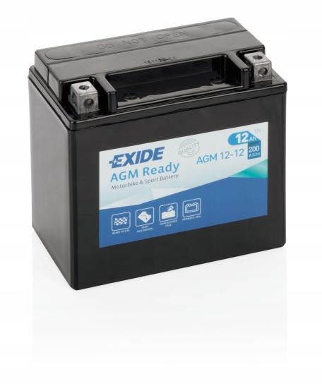 Мотоциклетный аккумулятор Exide YTX14-BS 12Ah 200A