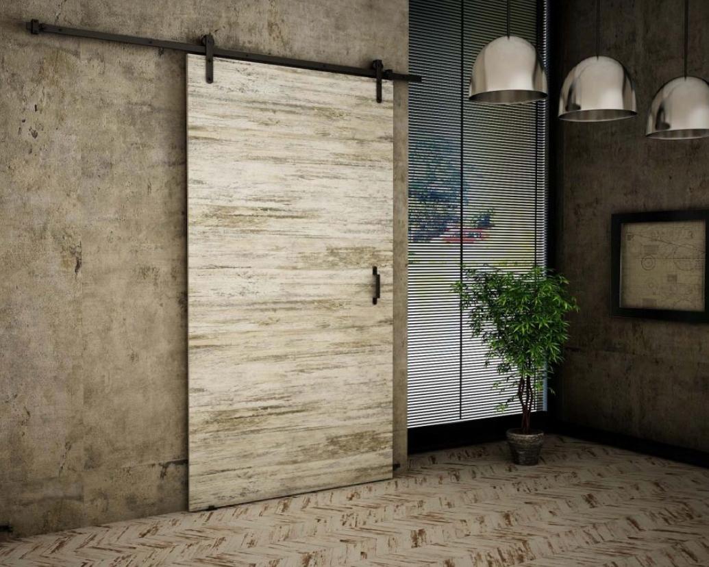 Posuvné dvere Biela borovica Retro stena RT10