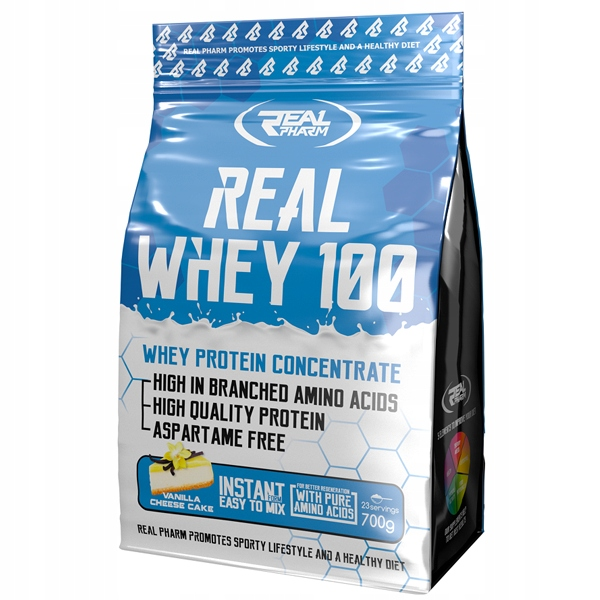 Real Pharm Real Whey 100 700g Bialko Koncentrat 6649446187 Allegro Pl