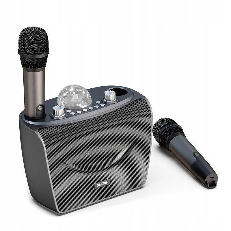 Zestaw do karaoke 2x Mikrofon Głośnik Oświetlenie