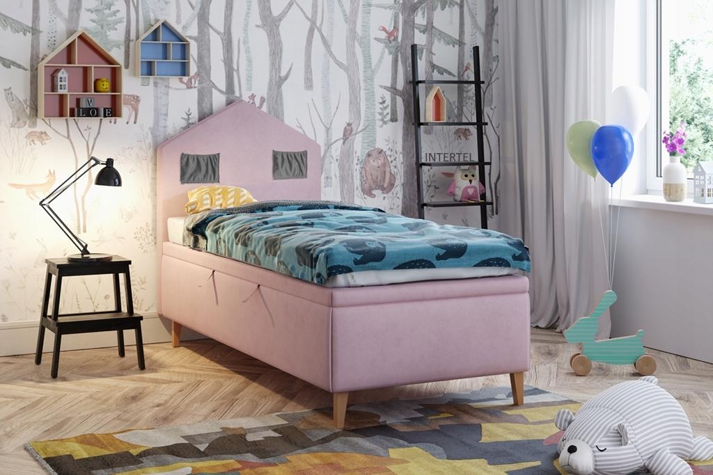 CHATA 2 jednolôžková posteľ so zásuvkami 90 x 200