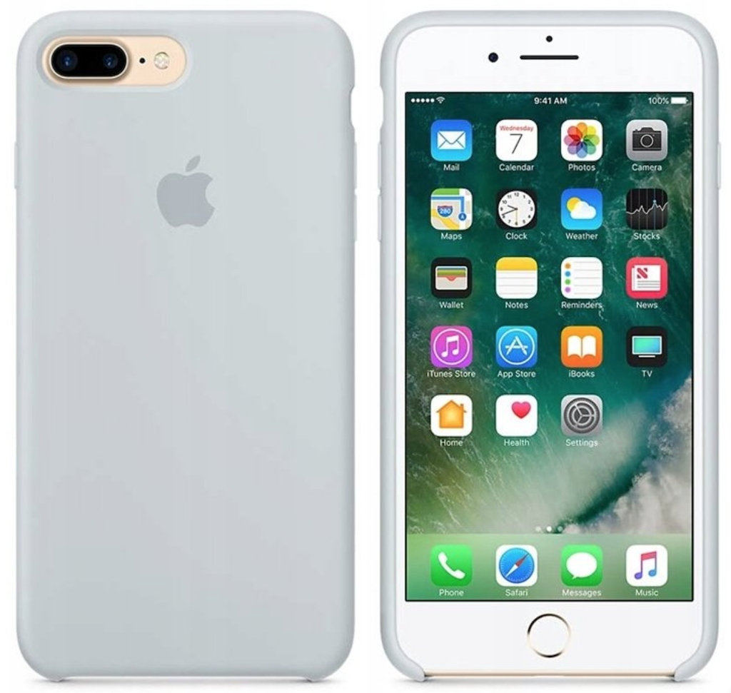 Etui silikonowe iPhone 8 Plus/ 7 Plus (Mist blue))