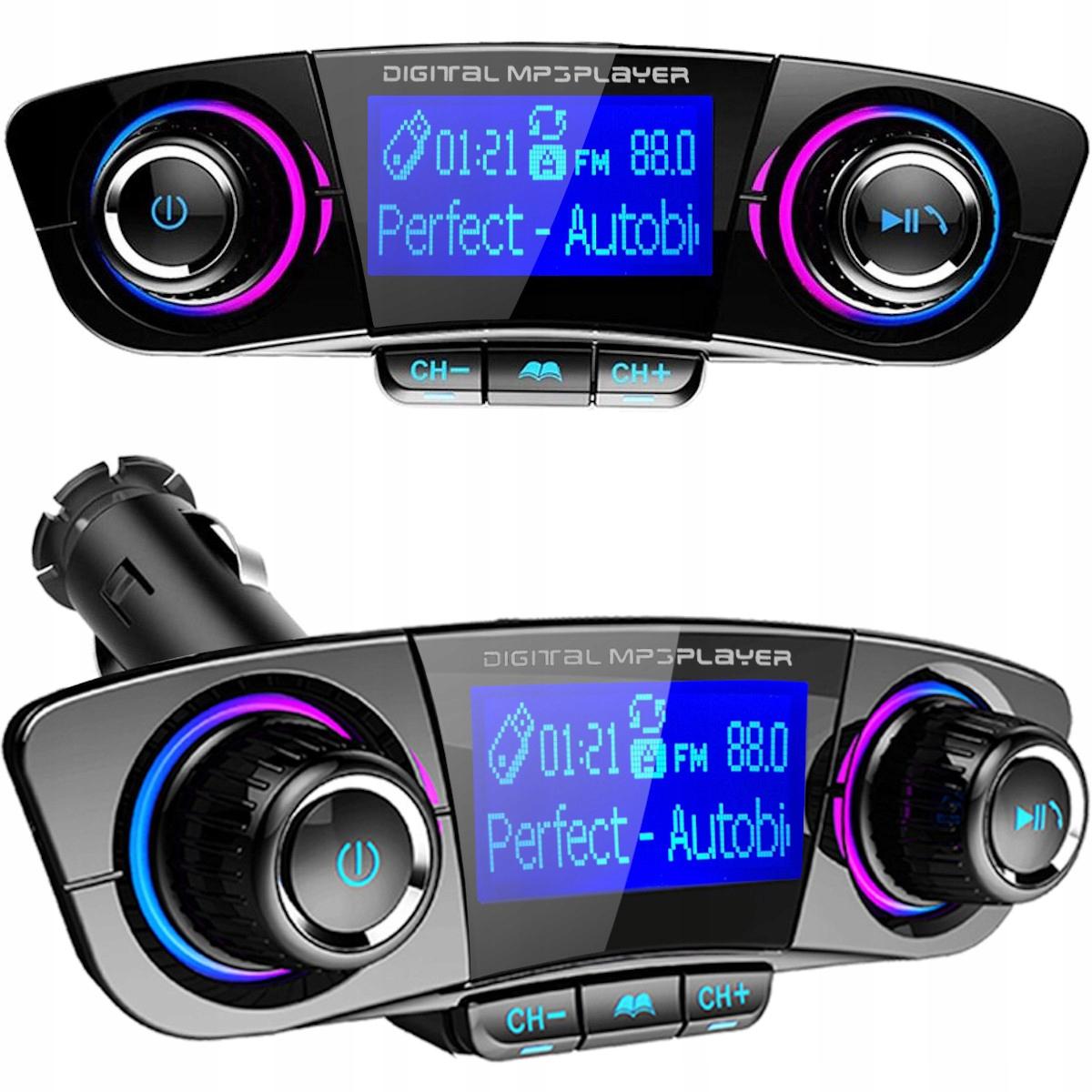 TRANSMITER FM BLUETOOTH 5.0 USB wielofunkcyjny 8w1