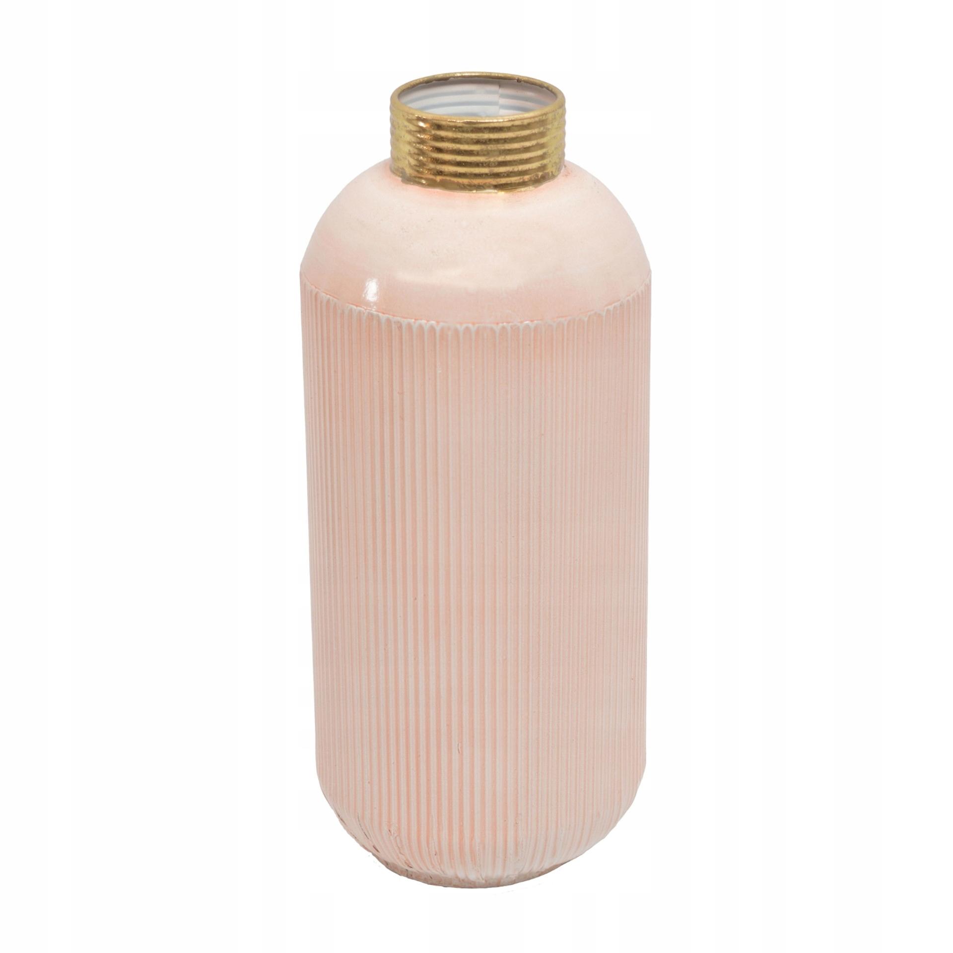 Ružová retro glamourová keramická váza Marko 36 cm