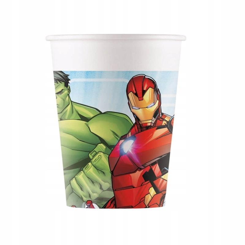 Kubeczki urodzinowe Mighty Avengers-200 ml -8 szt.