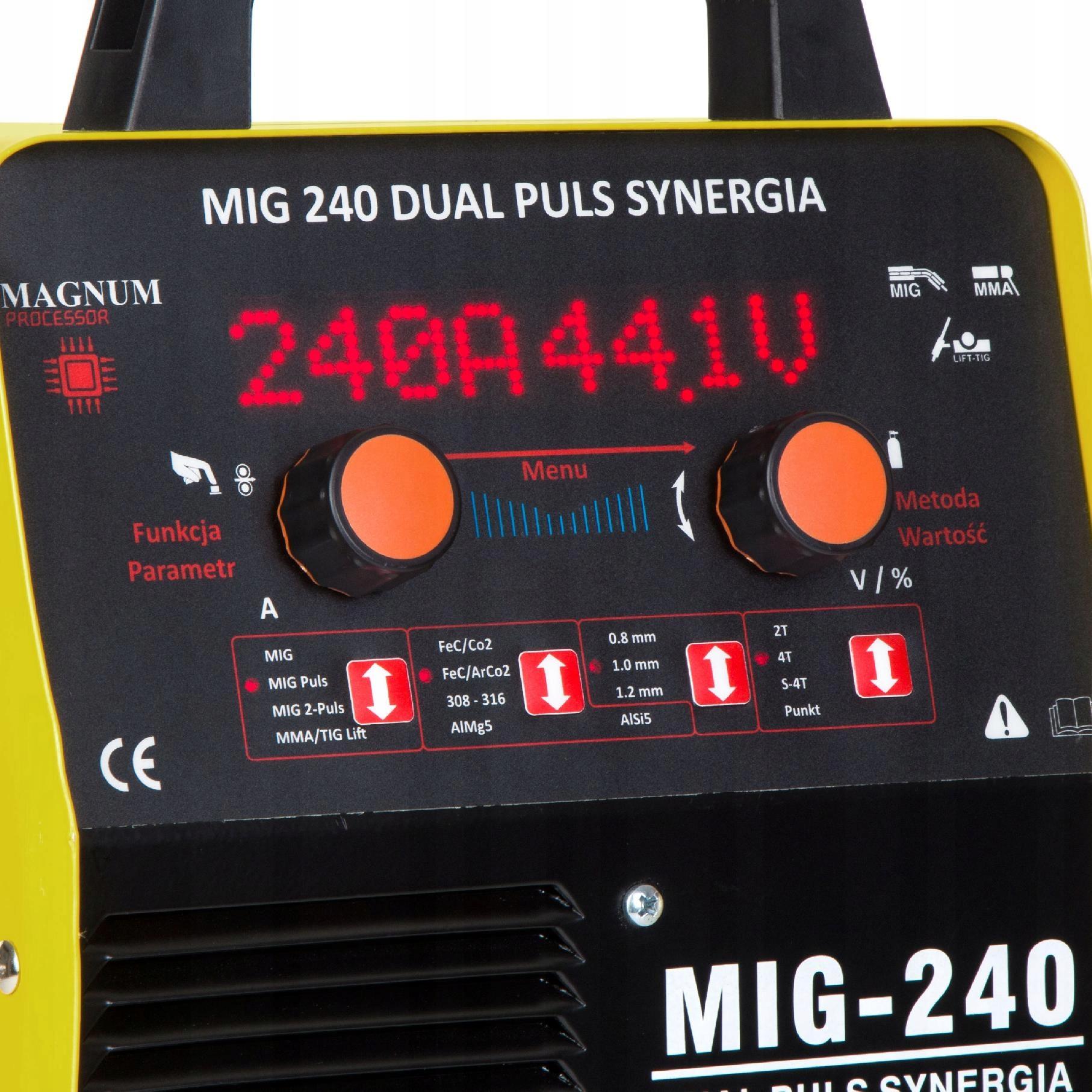 Spawarka MIGOMAT MAGNUM MIG MAG 240 PULS SYNERGIA Kod produktu U MI 240 DP